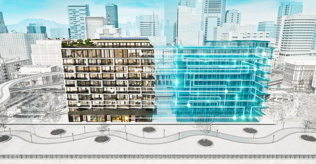 digital tvilling inom byggnadsindustrin
