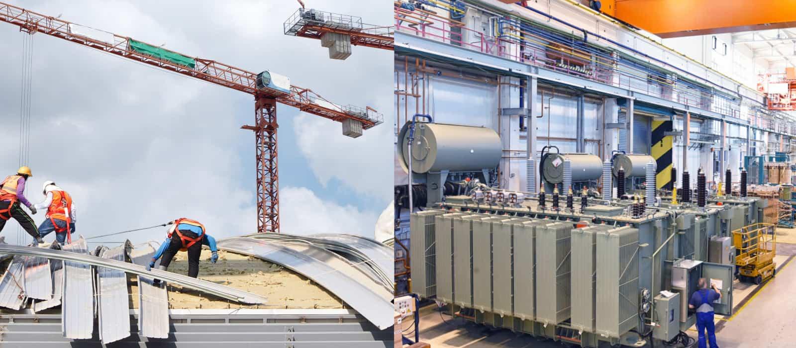 bygg- och tillverkningsindustrin